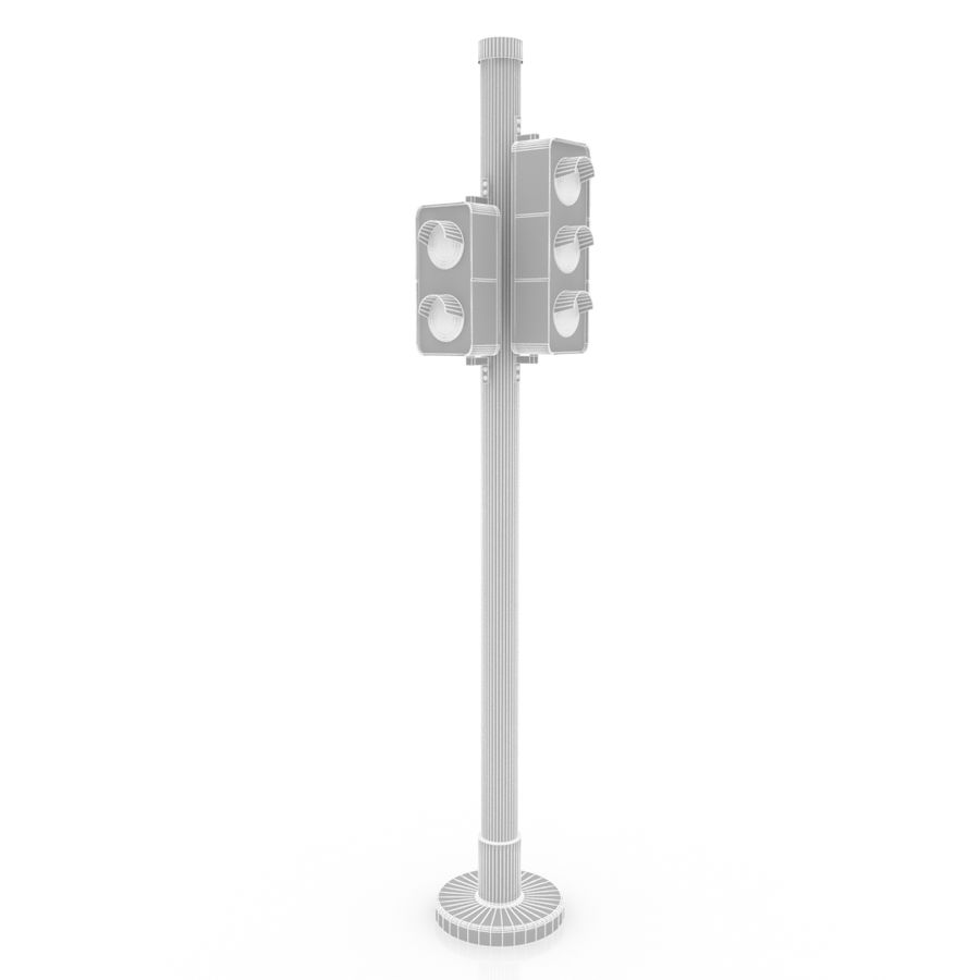 Traffic Signal royalty-free 3d model - Preview no. 7