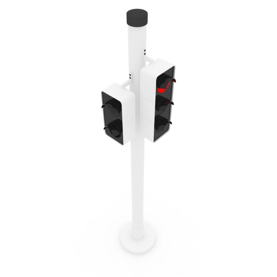 Traffic Signal royalty-free 3d model - Preview no. 3