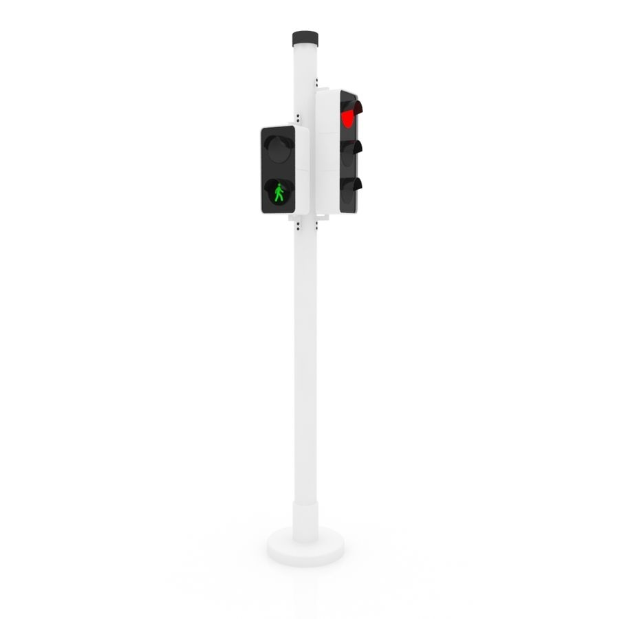 Traffic Signal royalty-free 3d model - Preview no. 4