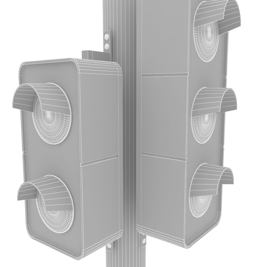 Traffic Signal royalty-free 3d model - Preview no. 8