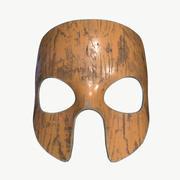 Maska z drewna 3d model
