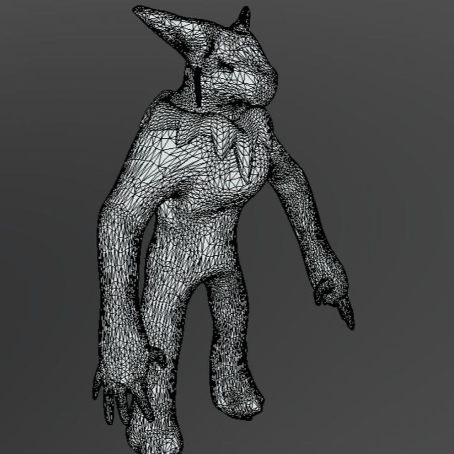 SHAMAN monster royalty-free 3d model - Preview no. 7