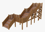 Wood Stairs 3d model