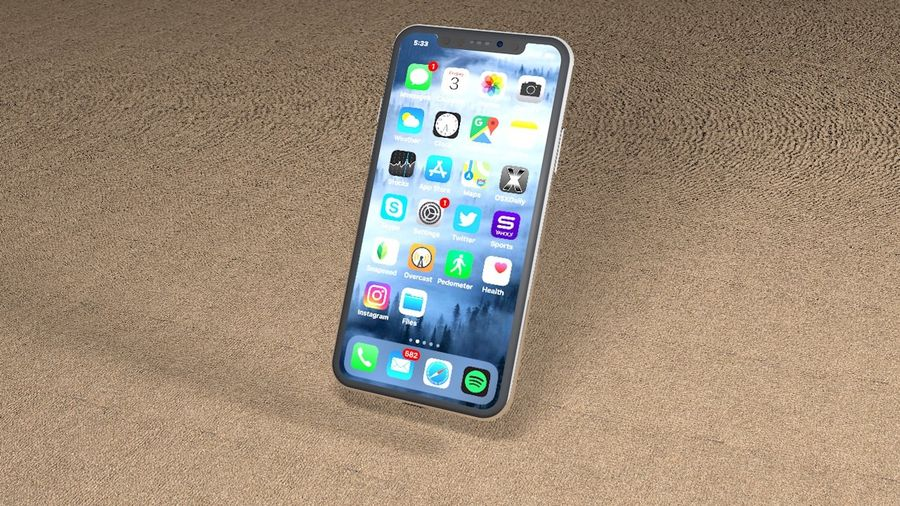 iPhone X royalty-free 3d model - Preview no. 1