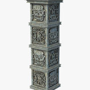 아즈텍 기둥 칼럼 3d model