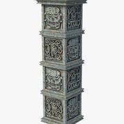 Aztec Pillar Column 3d model