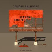 Daño Billboard 2P modelo 3d