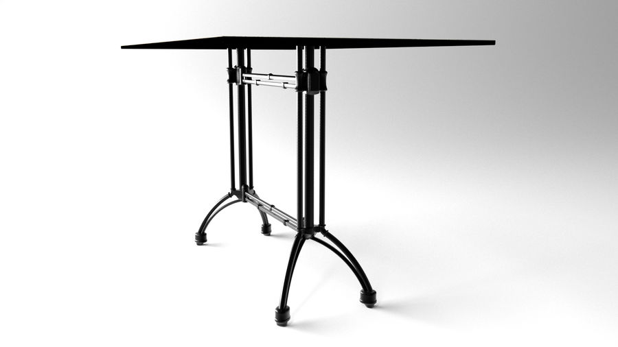 big table royalty-free 3d model - Preview no. 5