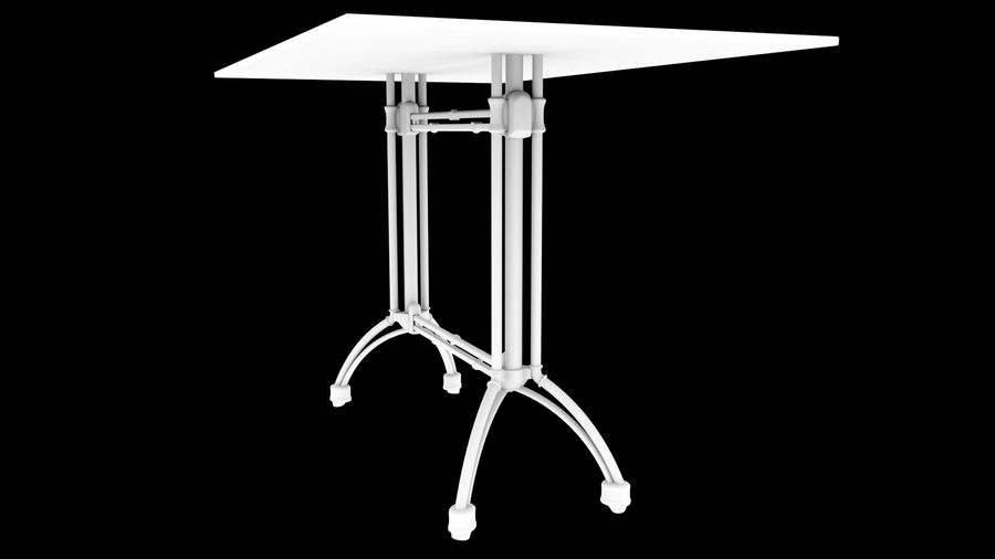 big table royalty-free 3d model - Preview no. 7