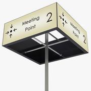 Ontmoetingspunt teken 3d model