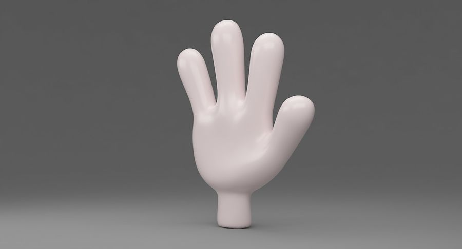 Hand Cartoon royalty-free 3d model - Preview no. 3