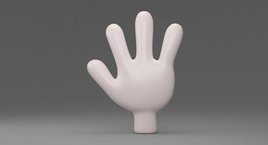 Hand Cartoon royalty-free 3d model - Preview no. 5