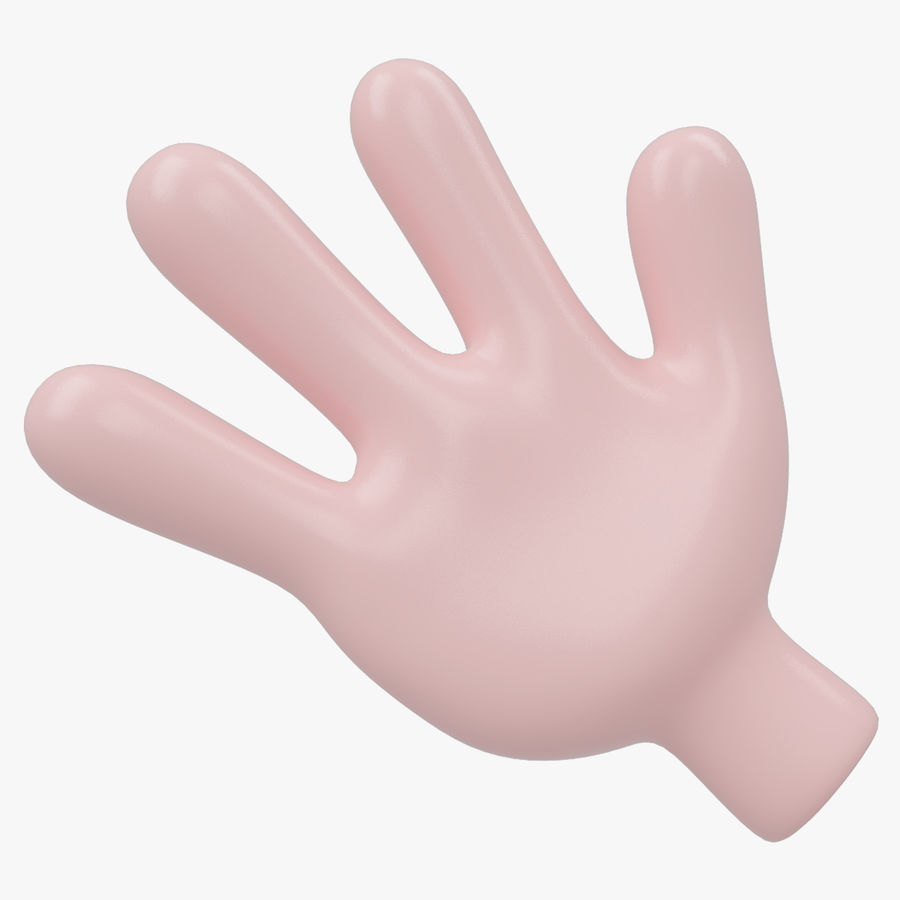 Hand Cartoon royalty-free 3d model - Preview no. 1