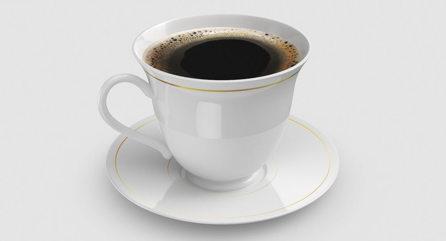 Tasse à café royalty-free 3d model - Preview no. 3