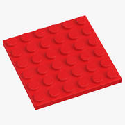 Lego Plate 6x6 Bright Red 3d model