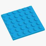 Legoplaat 6x6 Dark Azur 3d model