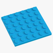 Lego Plate 6x6 Dark Azur 3d model