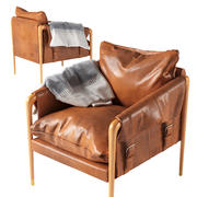 Havana Leather Chair by Anthropologie 3d model