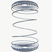 Spiralfjäder i metall 3d model