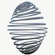 Molla a spirale in metallo 3d model