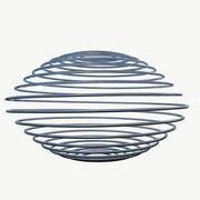 Metalen spiraalveer 3d model