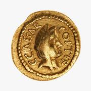 Römische Münze Gold 3d model