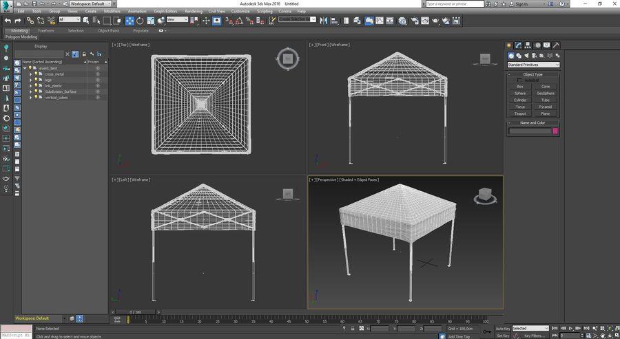이벤트 텐트 4x4 3D 모델 3D 모델 royalty-free 3d model - Preview no. 20