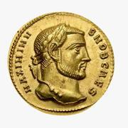 Gold Roman Coin 3d model