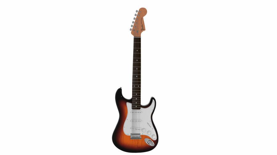 Guitarra Fender Stratocaster (Sunburst) royalty-free 3d model - Preview no. 14