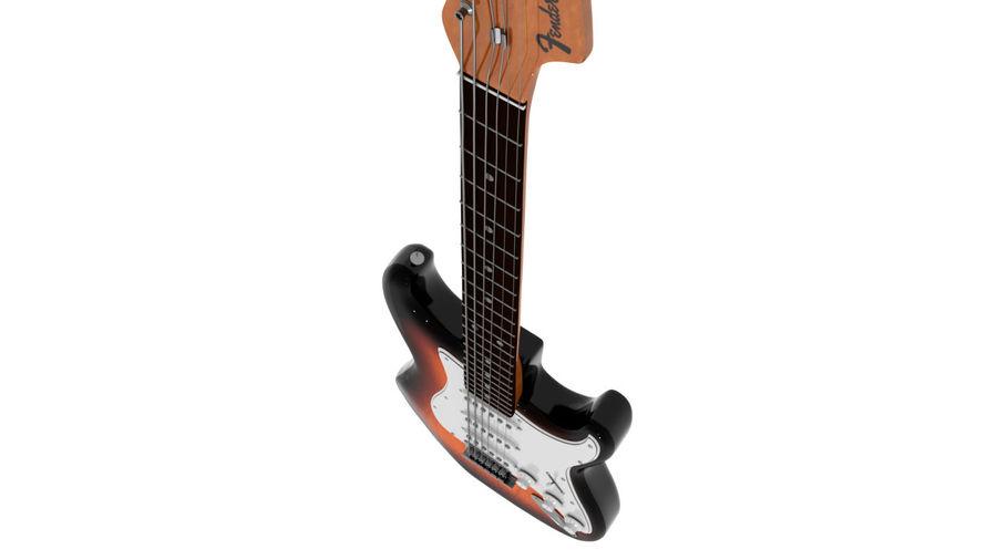 Guitarra Fender Stratocaster (Sunburst) royalty-free 3d model - Preview no. 13
