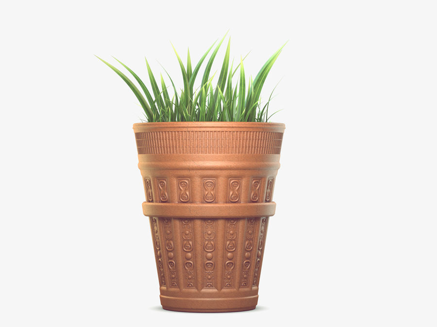 Plant Pot royalty-free 3d model - Preview no. 5