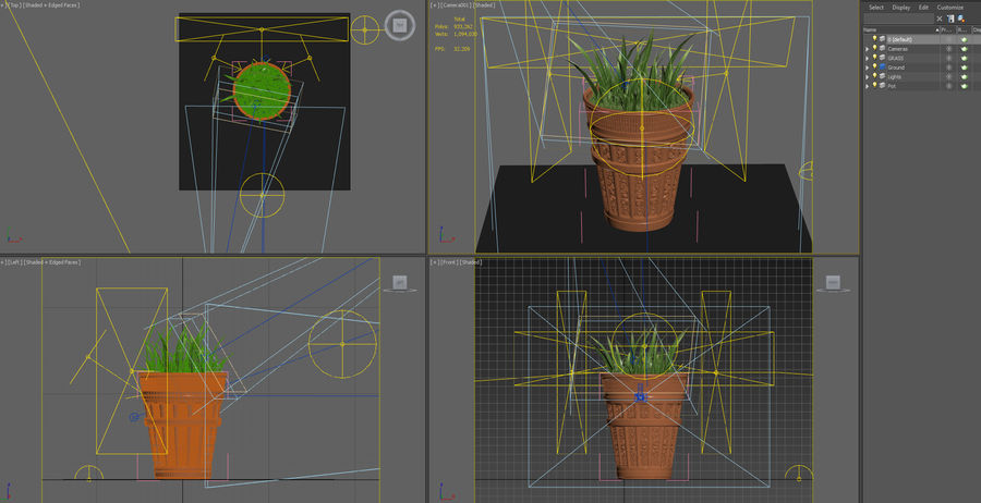 Plant Pot royalty-free 3d model - Preview no. 13