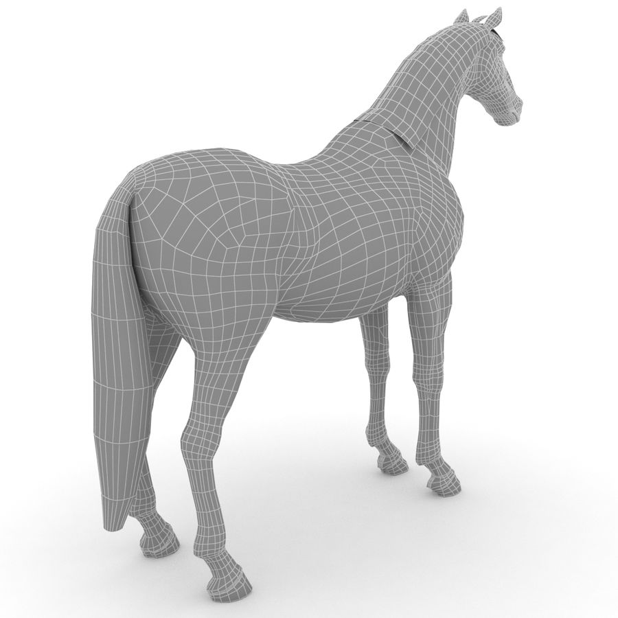 Cheval royalty-free 3d model - Preview no. 7