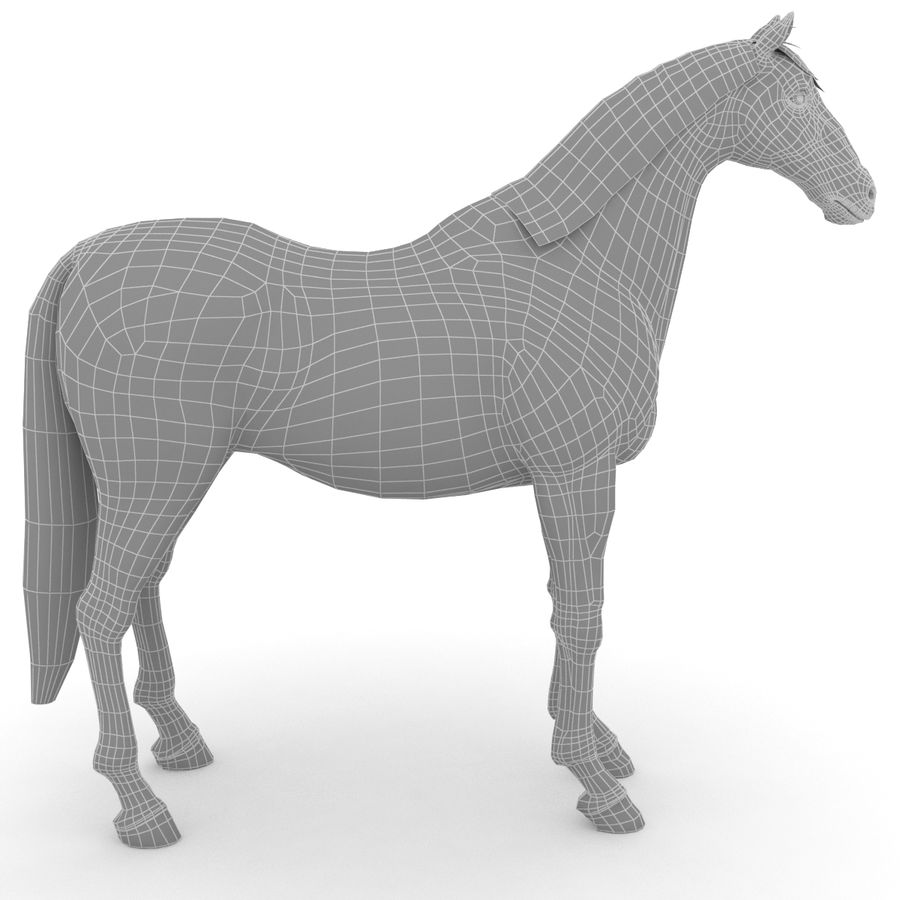 Cheval royalty-free 3d model - Preview no. 6