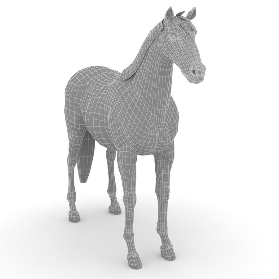 Cheval royalty-free 3d model - Preview no. 5