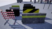 ロードブロッカーパック(ゲーム対応) 3d model