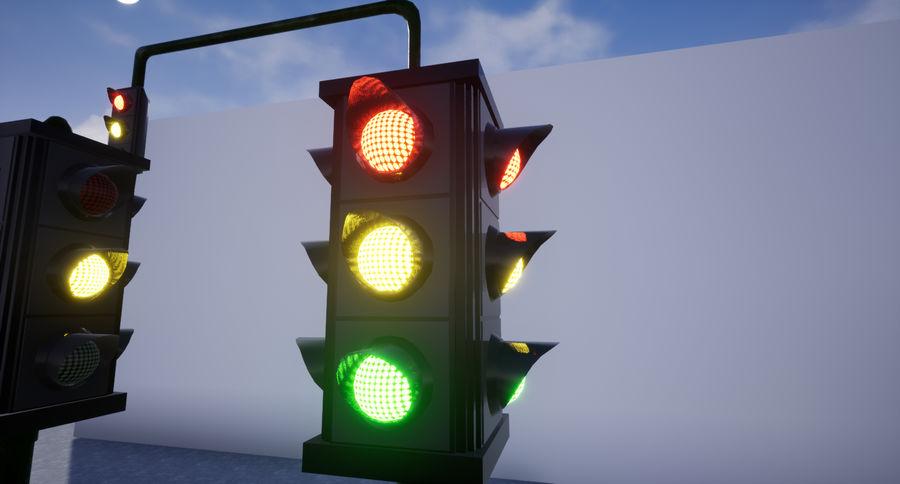 Trafik Işıkları (Oyuna Hazır) royalty-free 3d model - Preview no. 3