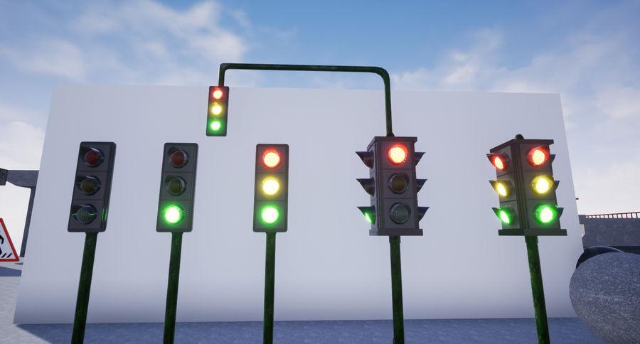 Trafik Işıkları (Oyuna Hazır) royalty-free 3d model - Preview no. 1