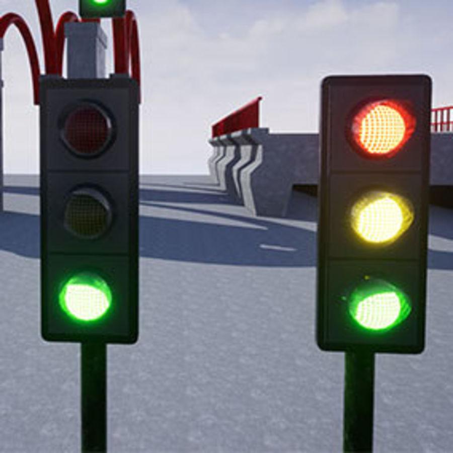Trafik Işıkları (Oyuna Hazır) royalty-free 3d model - Preview no. 5