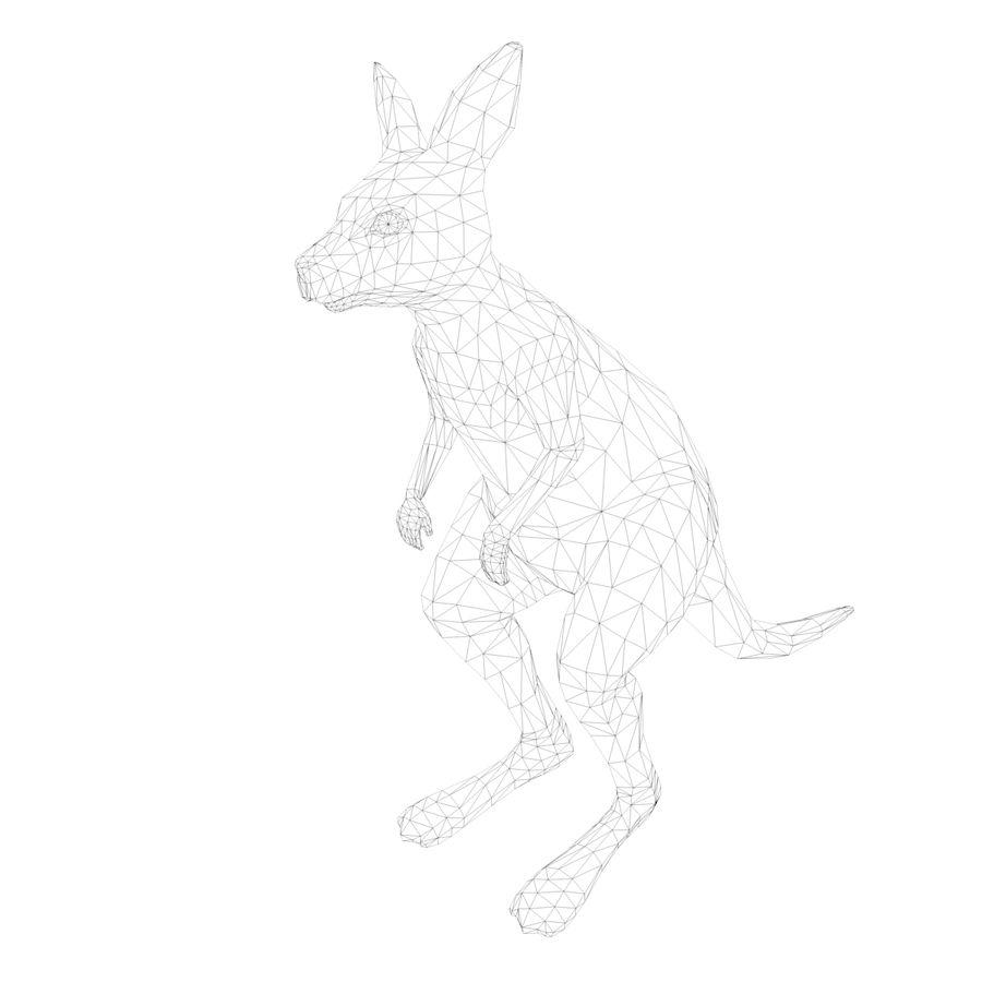 Känguru royalty-free 3d model - Preview no. 10