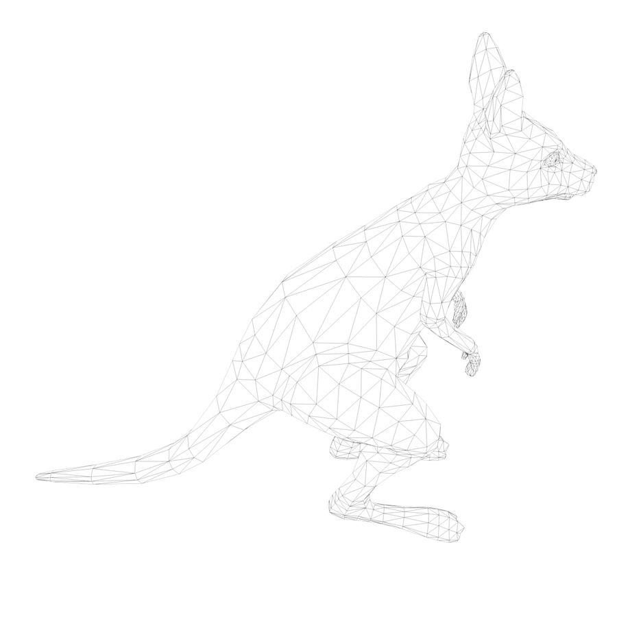 Känguru royalty-free 3d model - Preview no. 12