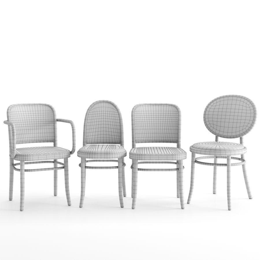 N 811 N 0 i krzesła Morris firmy GEBRUEDER THONET VIENNA royalty-free 3d model - Preview no. 5