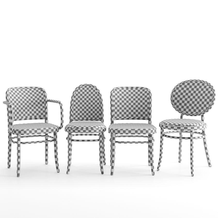 N 811 N 0 i krzesła Morris firmy GEBRUEDER THONET VIENNA royalty-free 3d model - Preview no. 4