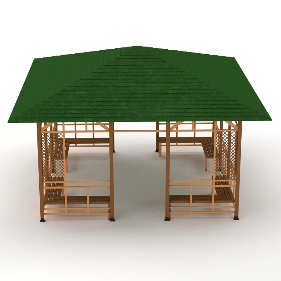 Pérgola 3D royalty-free modelo 3d - Preview no. 2