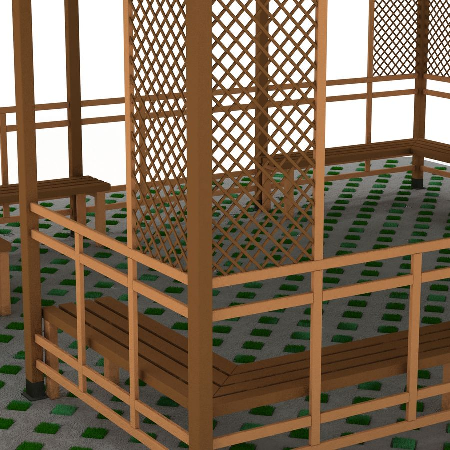 Pérgola 3D royalty-free modelo 3d - Preview no. 8