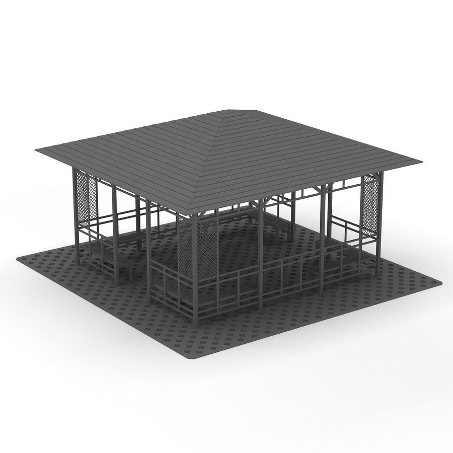 Pérgola 3D royalty-free modelo 3d - Preview no. 10