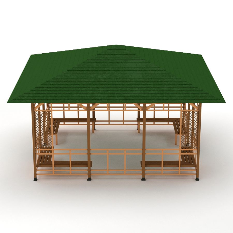 Pérgola 3D royalty-free modelo 3d - Preview no. 3