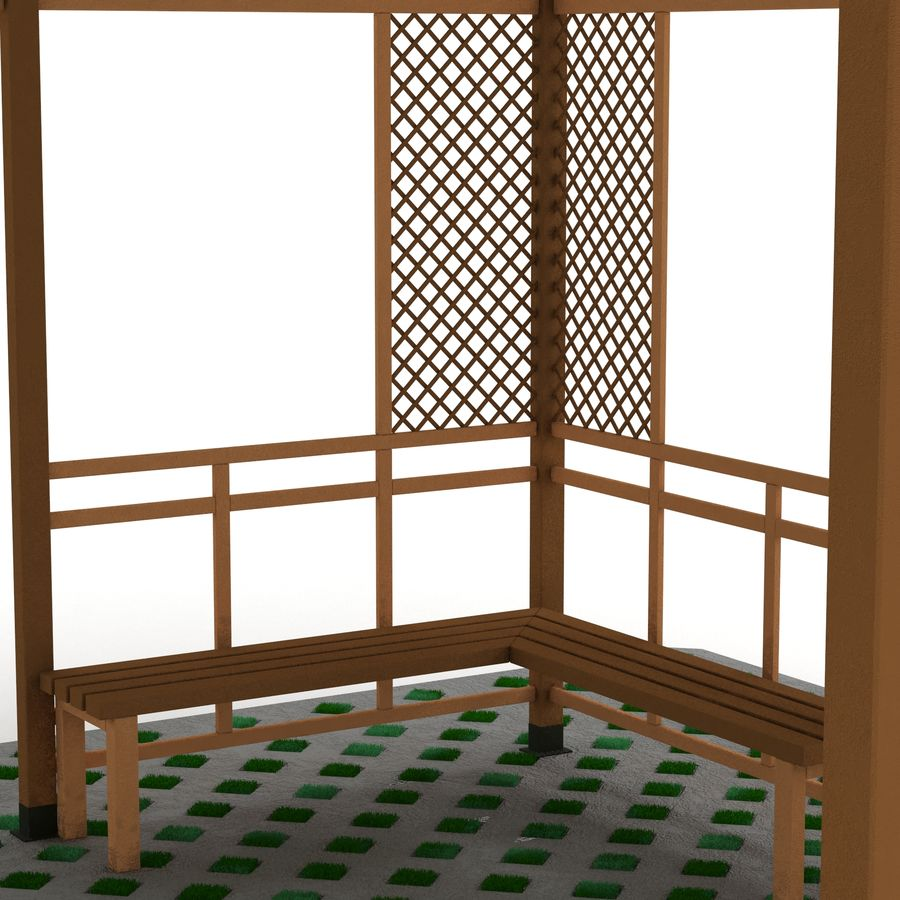 Pérgola 3D royalty-free modelo 3d - Preview no. 9