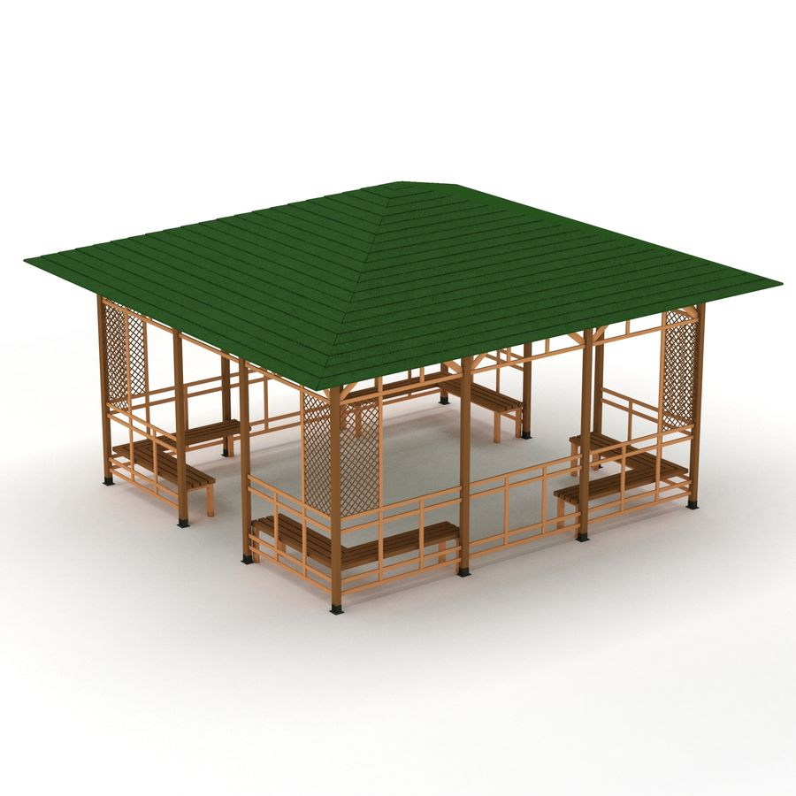 Pérgola 3D royalty-free modelo 3d - Preview no. 1