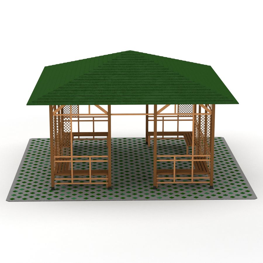 Pérgola 3D royalty-free modelo 3d - Preview no. 5